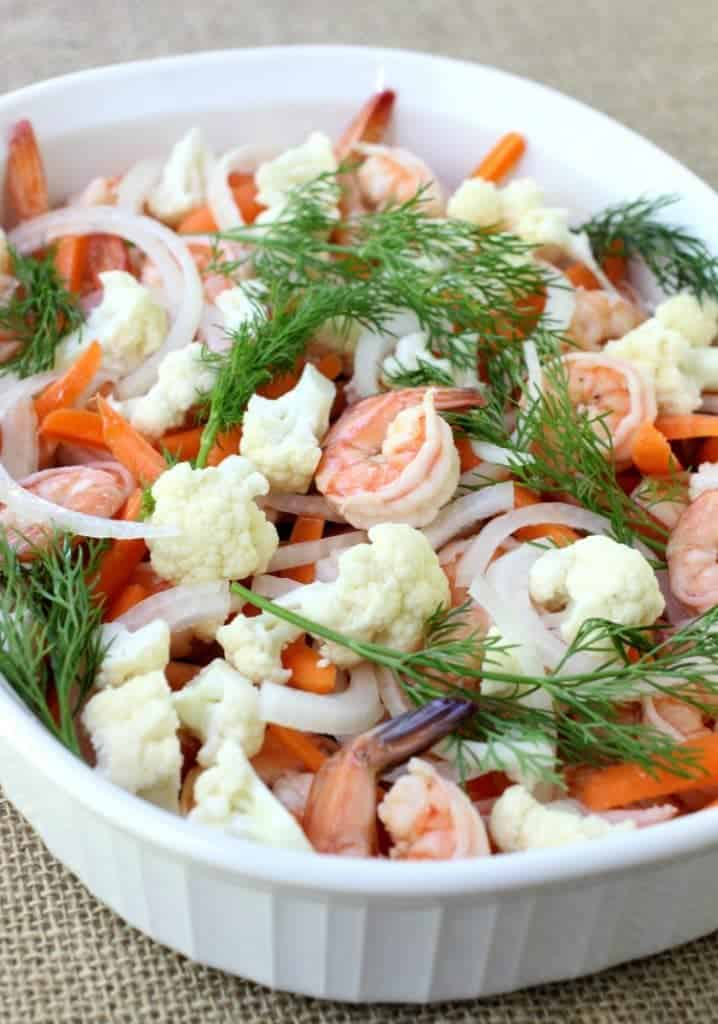 Pickled Shrimp and Vegetables process