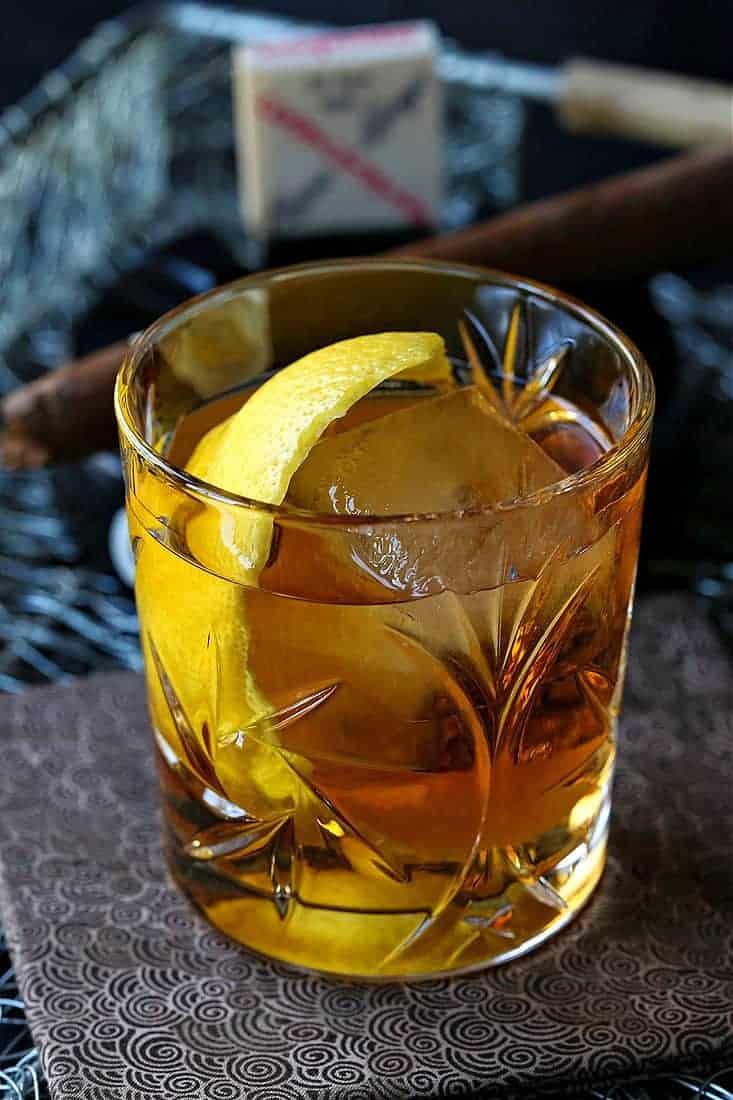 A bourbon cocktail recipe with a lemon twist