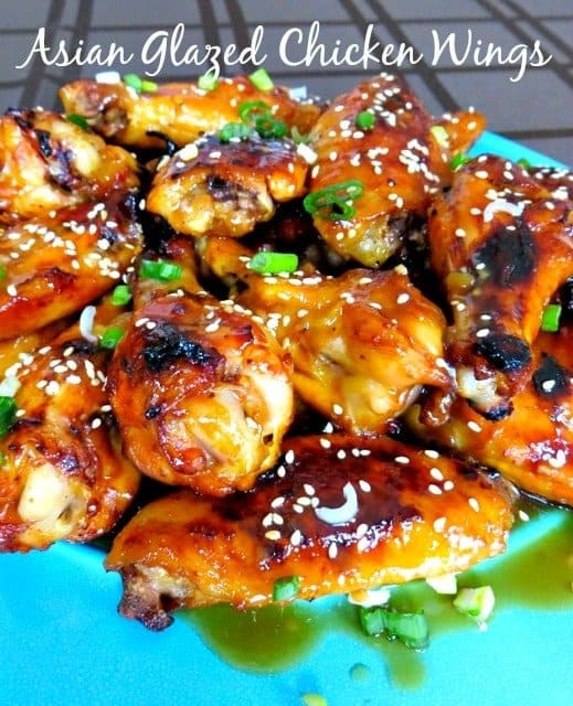 Asian Glazed Chicken Wings are a baked chicken wing recipe