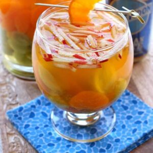 Blue Moon Sangria is the perfect happy hour cocktail!