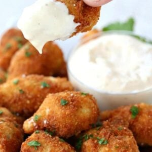 Dip these Fried Artichokes with Garlic Aioli into a 30 second sauce!