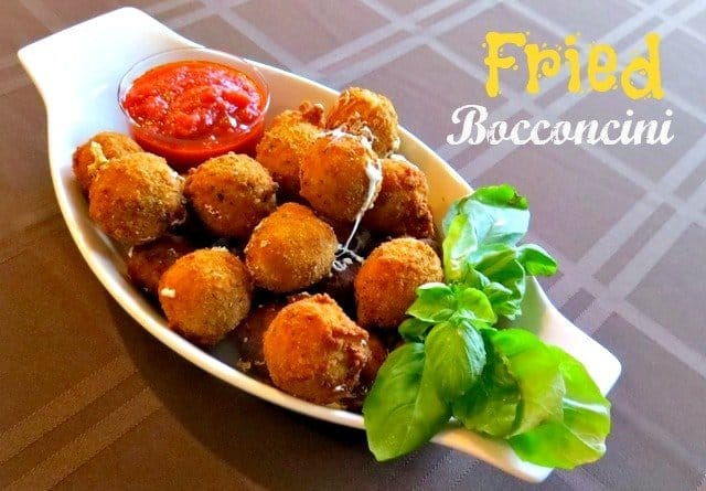 Fried Bocconcini Balls with sauce n the side