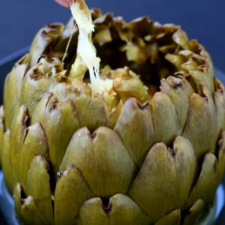 Stuffed Artichokes with Garlic and Fontinella
