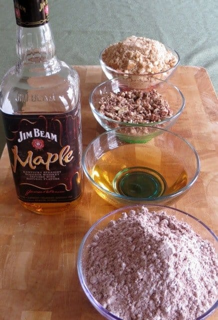 Ingredients for bourbon chocolate balls