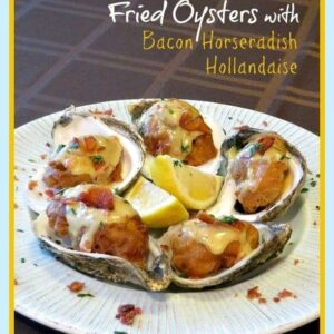 Fried Oysters with Bacon-Horseradish Hollandaise photo