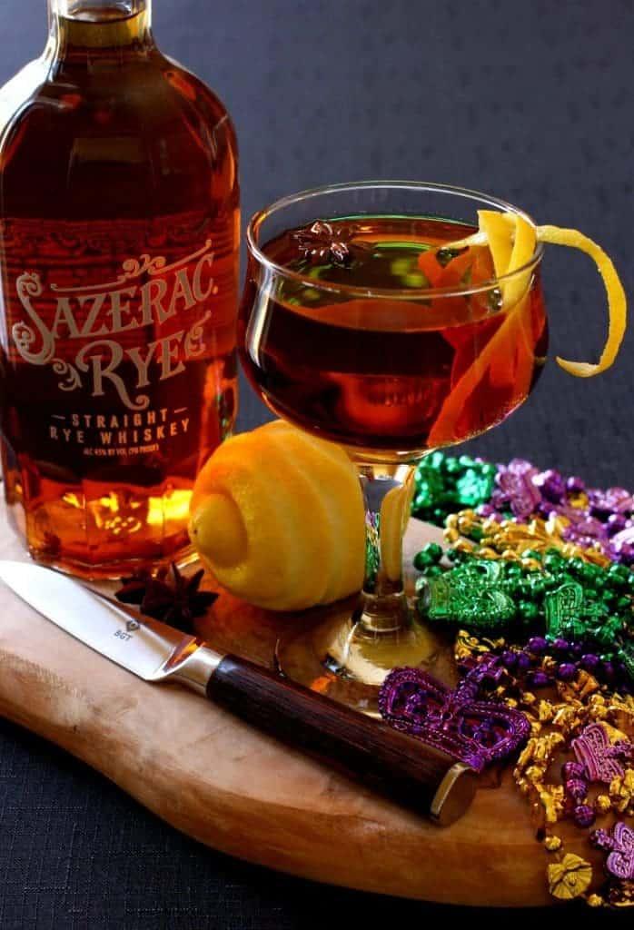 Make a Sazerac Cocktail for your Mardis Gras party!