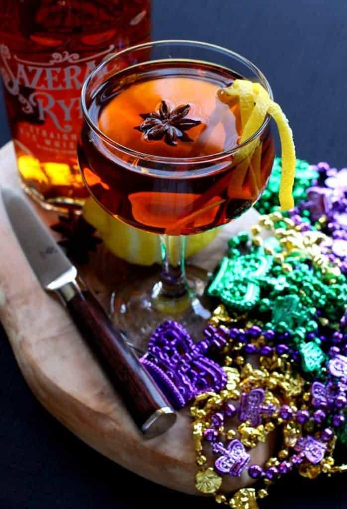 Kick up Mardi Gras with this classic Sazerac Cocktail!