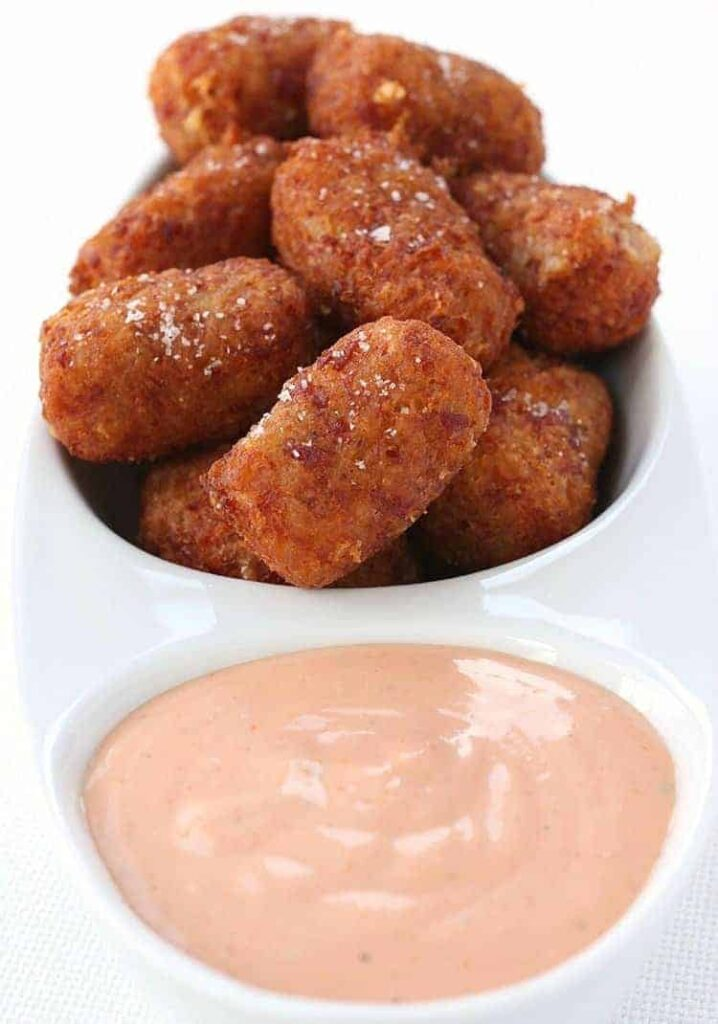 Cheesy Corned Beef Tater Tots is a leftover corned beef recipe used to make homemade tater tots