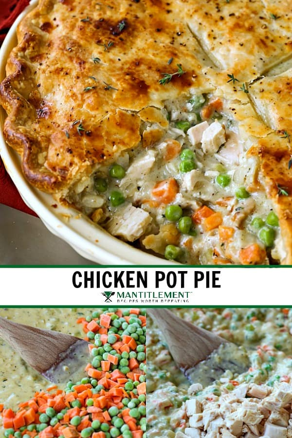 Chicken Pot Pie recipe collage for Pinterest