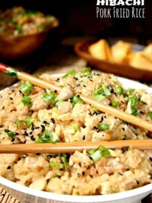 Hibachi Pork Fried Rice is a fried rice recipe with pork and pineapple juice