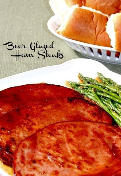 beer glazed ham steaks