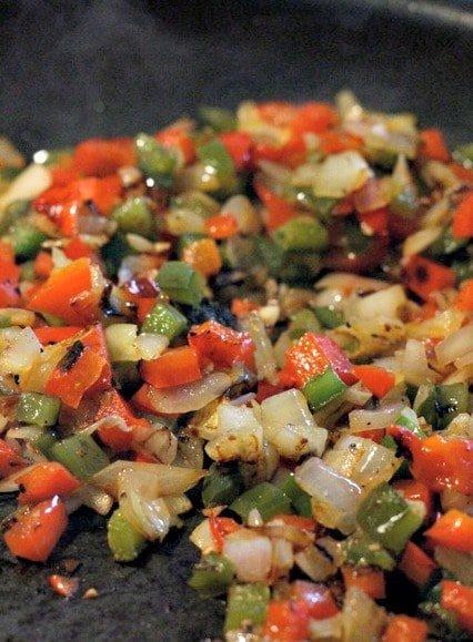 charred vegetable