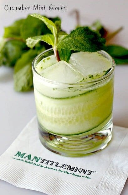 going to be making a large pitcher of these Cucumber Mint Gimlets