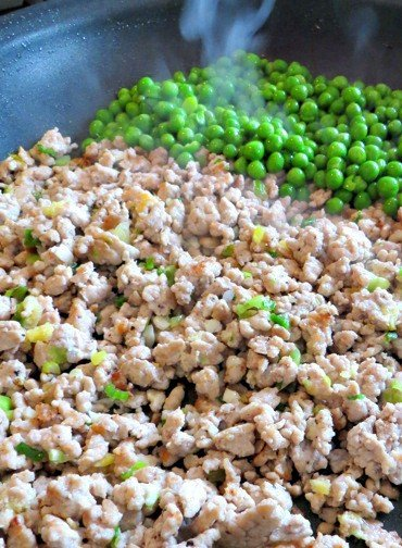 Hibachi Pork Fried Rice is a fried rice recipe with ground pork and peas