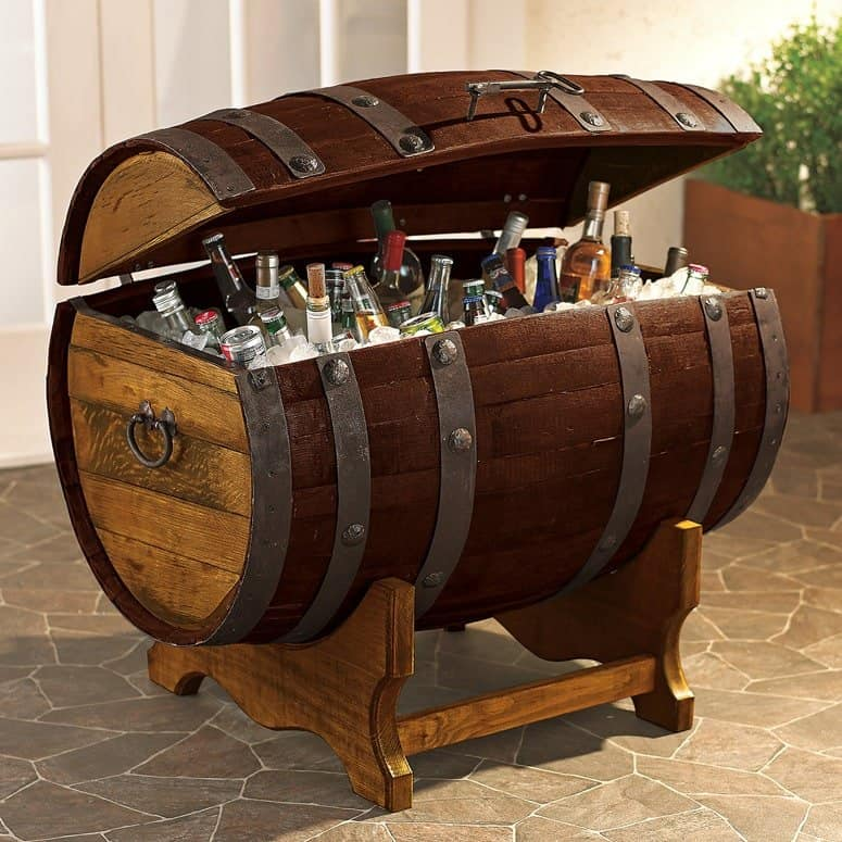 reclaimed tequila barrel cooler