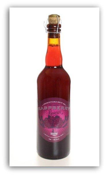 raspberry beer bottle
