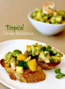 Tropical Shrimp Bruschetta