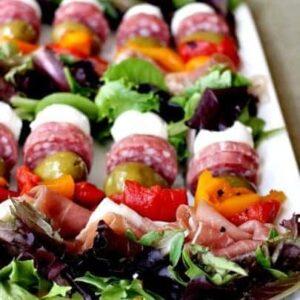Antipasto Salad Kabobs | Easy Party Appetizer Idea