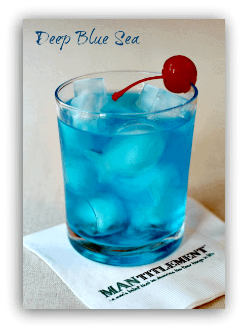 A Boozy, Blue Mixed Drink Recipe