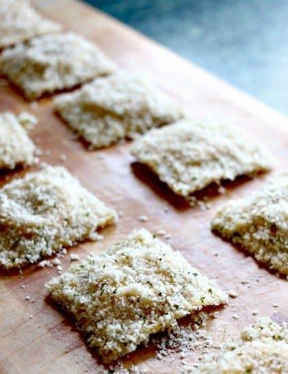 ravioli breaded