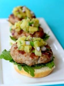 Pork Sliders with Pineapple Salsa