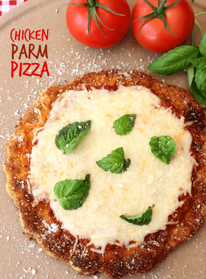 chicken parm pizza is a low carb chicken recipe that can be swapped out for pizza