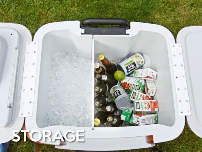 coolest cooler showing beer and ice