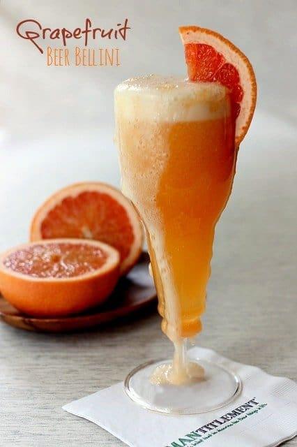 grapefruit beer bellini