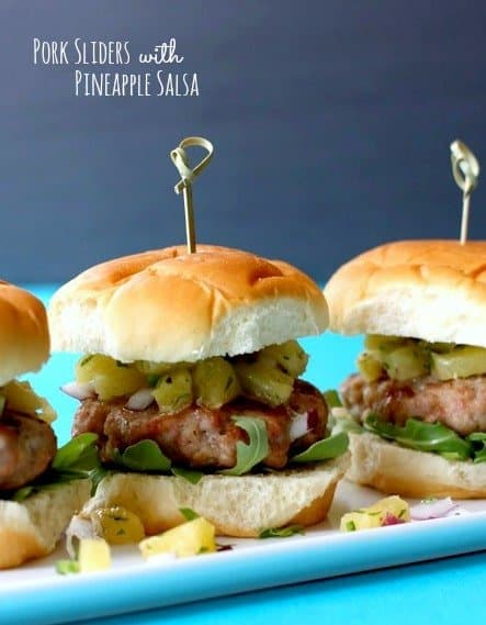 pork sliders with pineapple salsa