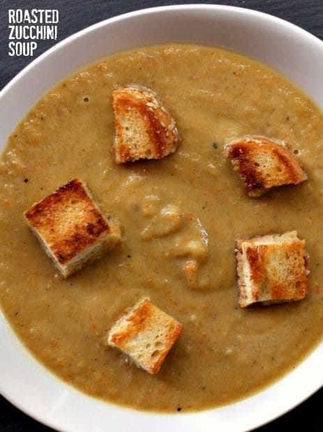 roasted zucchini soup feature