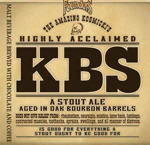 KBS beer label
