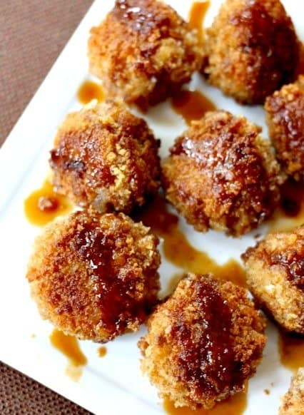 waffle meatballs close