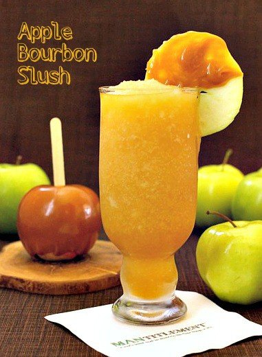 Apple Bourbon Slush featured