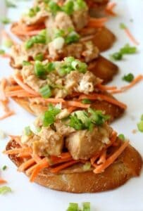 Chicken Satay Bruschetta