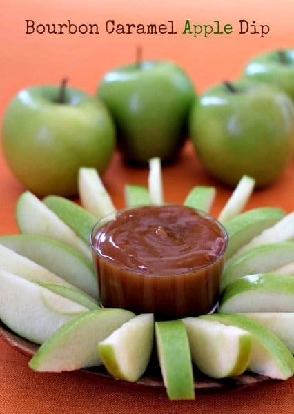bourbon caramel apple dip feature