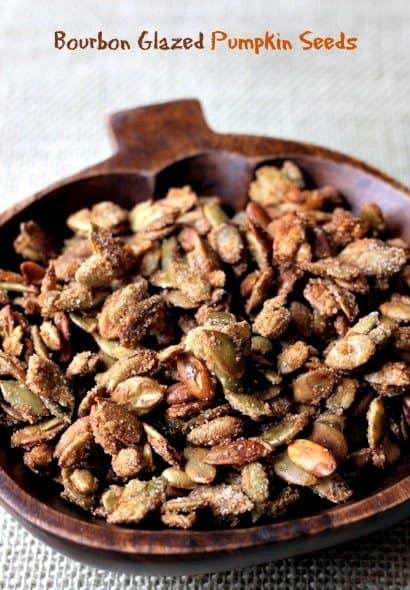 bourbon glazed pumpkin seeds