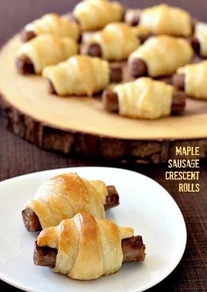 Crescent rolls stuffed with sausage for an easy breakfast recipe
