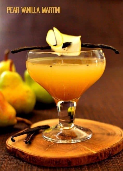 pear vanilla martini feature