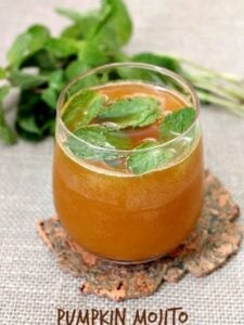 Pumpkin Mojito | Easy Pumpkin Cocktail Recipe for Fall or Halloween