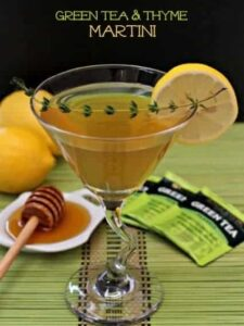 green tea martini with thyme