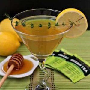 green tea martini with thyme