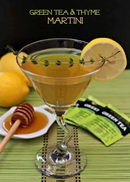 Green Tea and Thyme Martini featured