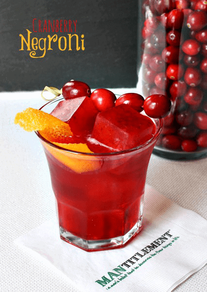 cranberry negroni drink featured