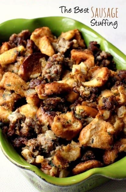 The Best Sausage Stuffing is a favorite sausage stuffing recipe