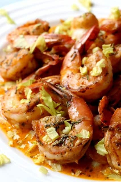 Spicy Shrimp Recipe in a butter and beer sauce