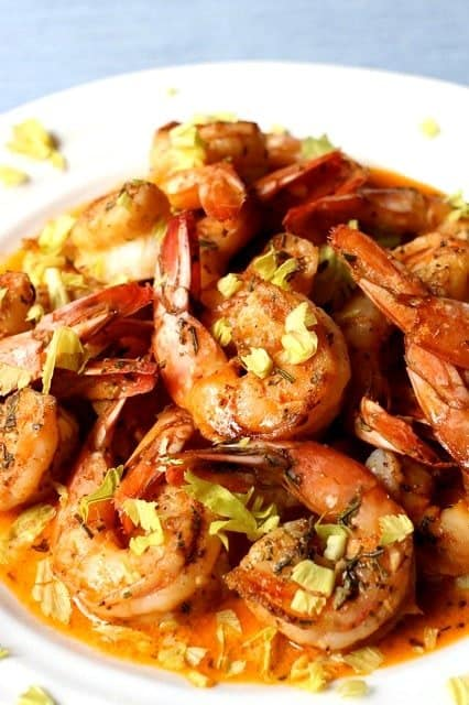 This Spicy Drunken Shrimp has a sauce so good, you won't leave any behind!