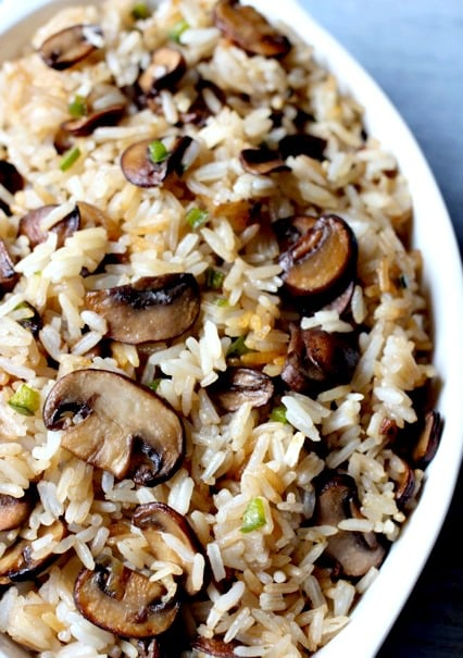 Spicy Mushroom Rice is a rice and mushrooms recipe