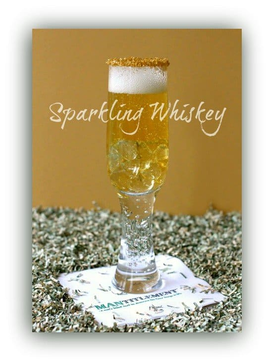 Sparkling Whiskey Champagne Cocktail featured