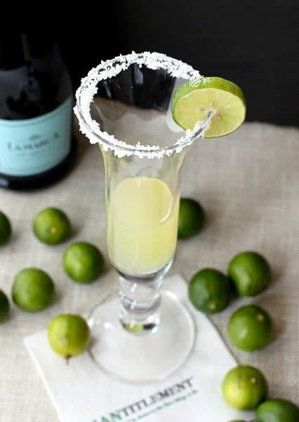 champagne margarita with prosecco