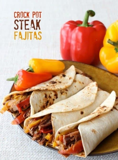 crock pot steak fajitas featured